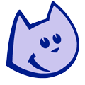 The Blue Cat logo retina